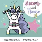sporting lovely unicorn do...