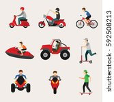 people with vehicle design... | Shutterstock .eps vector #592508213