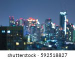 blurred light night view city... | Shutterstock . vector #592518827