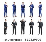 set of business people isolated ... | Shutterstock . vector #592529903