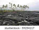 black lava field on savaii...