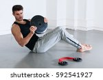 fit  muscular male body  stock... | Shutterstock . vector #592541927