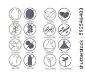 set of icons illustrating... | Shutterstock .eps vector #592546403