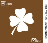 leaf clover sign icon. saint... | Shutterstock .eps vector #592567103