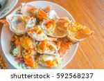 steamed crab seafood the... | Shutterstock . vector #592568237