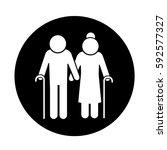 elder people icon | Shutterstock .eps vector #592577327
