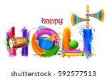 illustration of colorful happy... | Shutterstock .eps vector #592577513