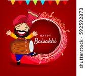 happy baisakhi  vector...   Shutterstock .eps vector #592592873