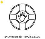 lifebuoy  icon  vector...