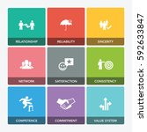 trust icon set   Shutterstock .eps vector #592633847