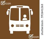 bus icon. schoolbus symbol.... | Shutterstock .eps vector #592641263