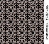 celtic seamless pattern in... | Shutterstock .eps vector #592642307