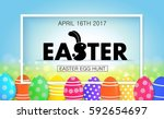 easter egg hunt vector... | Shutterstock .eps vector #592654697