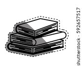 books and education icon vector ... | Shutterstock .eps vector #592657517