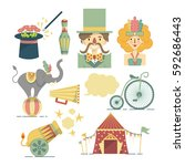set of colorful flat... | Shutterstock .eps vector #592686443