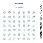 vector graphic set. icons in... | Shutterstock .eps vector #592717427