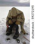 ice fishing. winter. ice.... | Shutterstock . vector #59272195