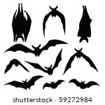 bat silhouette of various... | Shutterstock .eps vector #59272984