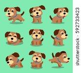 cartoon character norfolk... | Shutterstock .eps vector #592733423