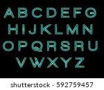 alphabet  | Shutterstock .eps vector #592759457