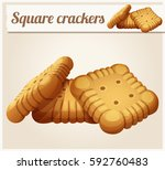 square crackers cookies... | Shutterstock .eps vector #592760483