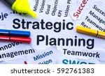 strategic planning banner | Shutterstock . vector #592761383