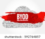 byod   bring your own device... | Shutterstock . vector #592764857