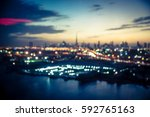 Blurred Aerial View Of Dubai A...