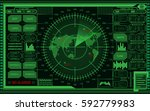abstract digital green radar...