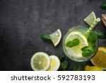 refreshment drink lemonade....   Shutterstock . vector #592783193