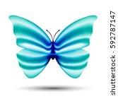 abstract vector butterfly... | Shutterstock .eps vector #592787147