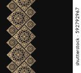 golden frame in oriental style. ... | Shutterstock .eps vector #592792967