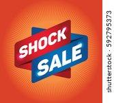 shock sale arrow sign icon.... | Shutterstock .eps vector #592795373