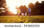parents with children on...   Shutterstock . vector #592802333