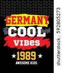 germany cool vibes t shirt... | Shutterstock .eps vector #592805273