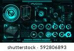 elements for hud interface   Shutterstock .eps vector #592806893