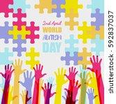 world autism day   Shutterstock .eps vector #592837037