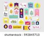 abstract colorful easter...   Shutterstock .eps vector #592845713