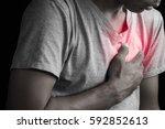 Man Having Chest Pain  Heart...