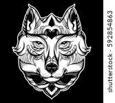 vector hand drawn  illustration ...   Shutterstock .eps vector #592854863