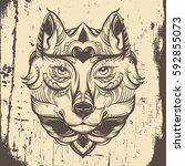 vector hand drawn  illustration ...   Shutterstock .eps vector #592855073