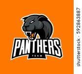 furious panther sport vector... | Shutterstock .eps vector #592863887