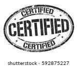 certified grunge rubber stamp... | Shutterstock .eps vector #592875227