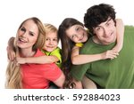 family portrait | Shutterstock . vector #592884023