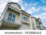 new house for sale   Shutterstock . vector #592888163