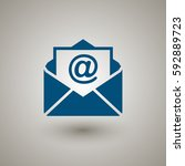 mail icon  | Shutterstock .eps vector #592889723