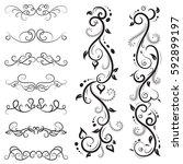 vector illustration set of...   Shutterstock .eps vector #592899197