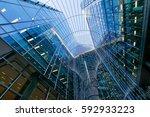 london office building... | Shutterstock . vector #592933223
