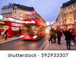 shopping at oxford street ... | Shutterstock . vector #592933307