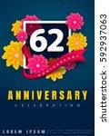 62 Years Anniversary Invitatio...